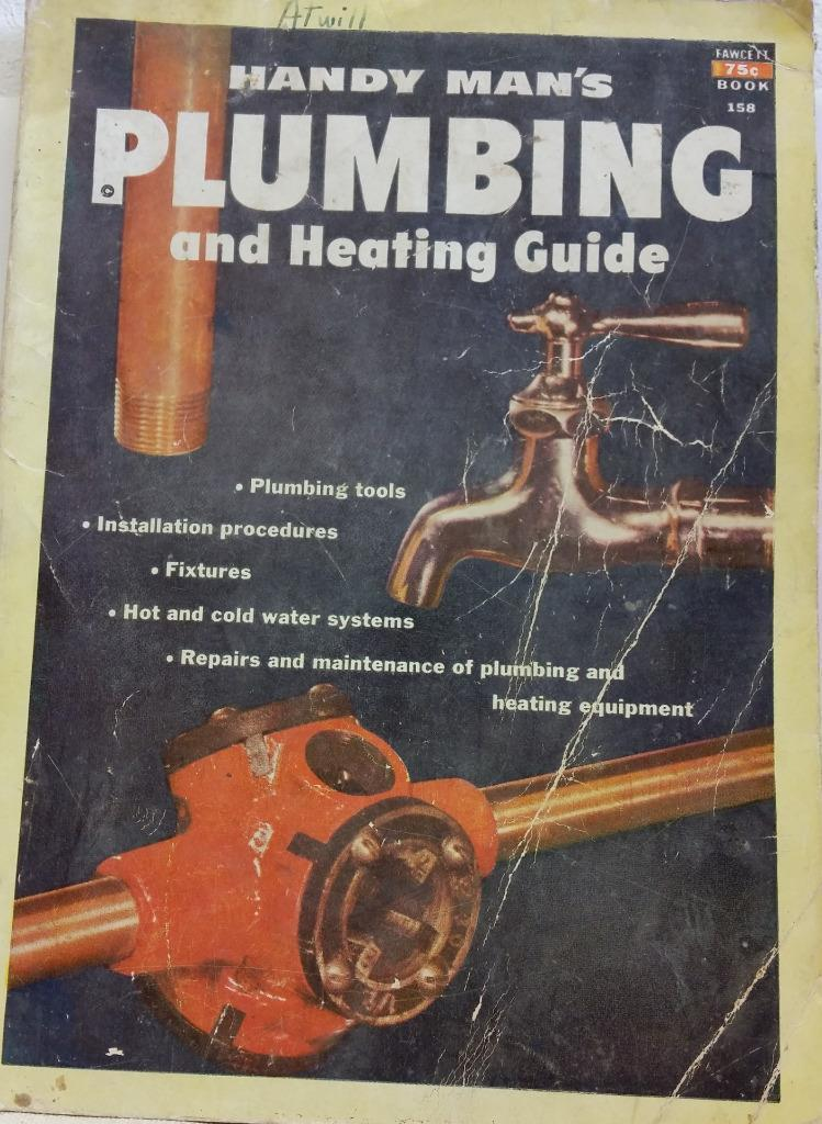 1952 Fawcett #158 Handy Man's Plumbing and Heating Guide Book Paperback
