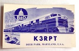 B&O Baltimore and Ohio Ham Radio Card QSL QSO Deer Park MD Garrett County K3RPT
