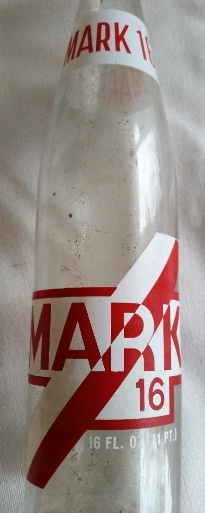 Vintage Mark 16 Soda Bottle 16 oz ACL Rare Beveridge