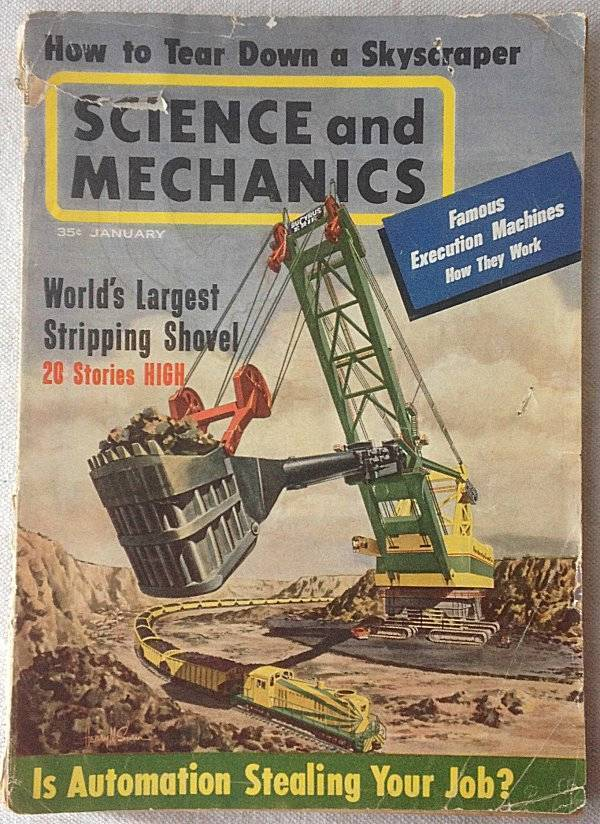 Science and Mechanics January 1963 Build a 3 Point Hydro plane Execution Machine