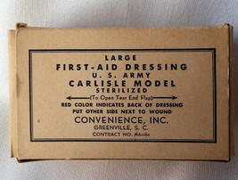 1940's MIB First Aid Kit Dressing U.S. Army Unused Excellent Cond Greenville SC