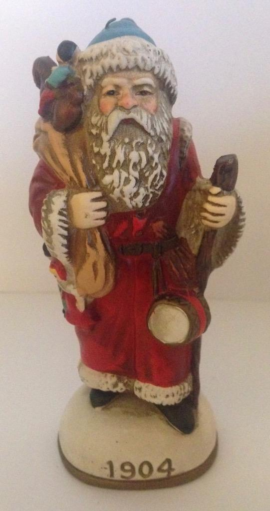 Memories of Santa 1904 Blue Hat, Toy Horse, Walking Stick Ornament w/ Orig Box