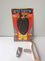 Vintage 1950's Daisy Blue ribbon Rubber Soles New Old Stock on Card