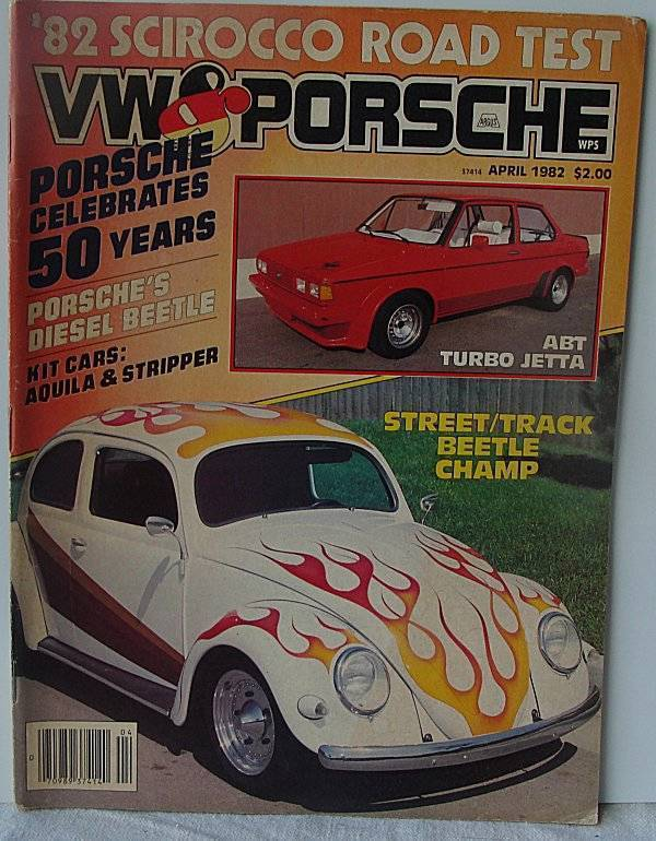 VW & Porsche magazine April 1982 Diesel Beetle Kit cars Street Beetle Champ
