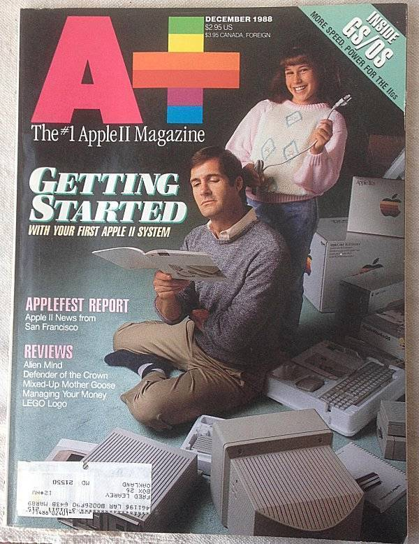 A+ Apple II Macintosh Magazine December 1988 Getting Started w/ 1st Apple II sys