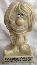R&W Berries 1970 Sillisculpt Statue Made in USA BEAUTIFUL PERSON HAPPY BIRTHDAY