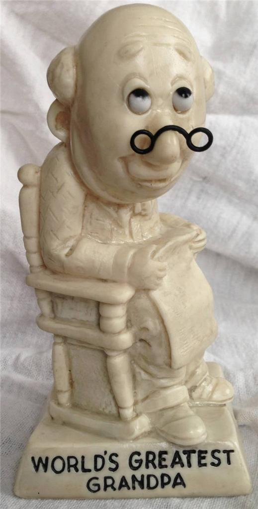 W&R Berries 1970 Sillisculpt Statue Made in USA 'WORLD'S GREATEST GRANDPA'