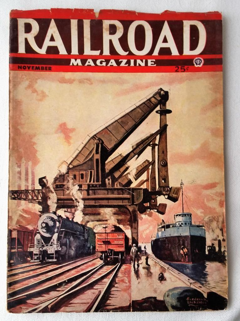 1944 November Railroad Magazine Pulp RR Articles Stories Maine Central Memories