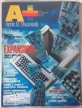 A+ Apple II Macintosh Magazine December 1985 Omnis 3 Assembly Language Expansion