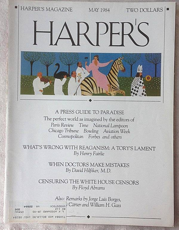 Harper's 1984 The Mideast: Jimmy Carter The future of War Blacks & Baseball