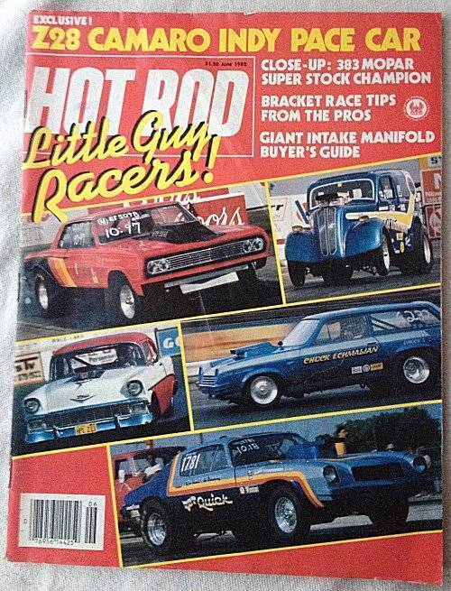 Vintage June 1982 Hot Rod Magazine Z28 Camaro Indy Pace Car Intake Manifold