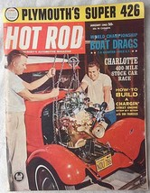 Vintage January 1963 Hot Rod Magazine Boat Drags, Plymouth 426, Charlott 400