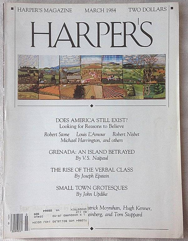 Harper's 1984 Charting the Nuclear Winter by Carl Sagan Does America Still Exist