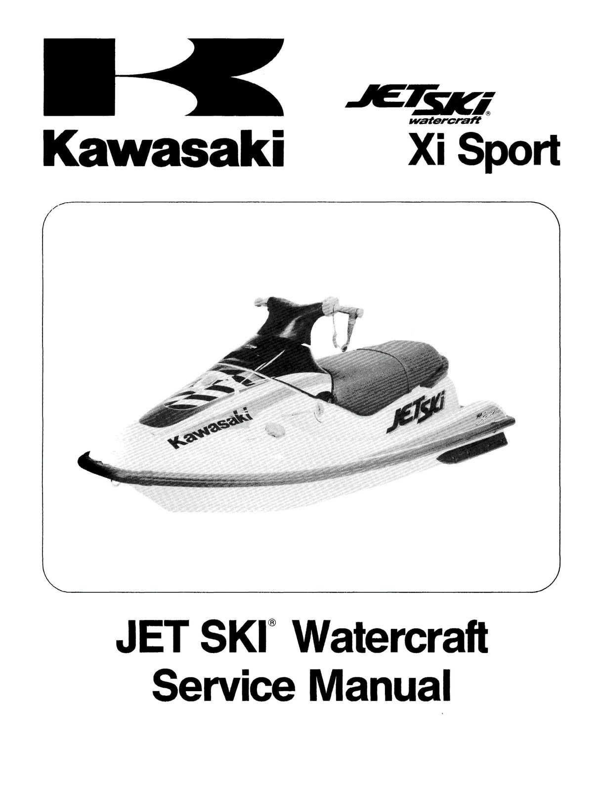 Jetski xi sport 1998 service manual