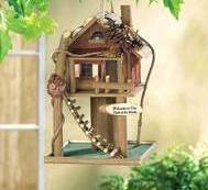 Treehouse Wood Birdhouse