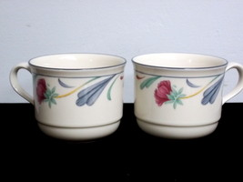 Lenox Chinastone Poppies on Blue Cups (2) - $11.88