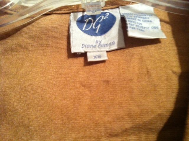 DIANE GILMAN Western style vest brown turquoise stud embellishments RARE EUC XS
