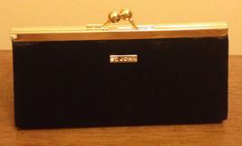 St John Black & Gold Evening Bag Hideaway Shoulder Strap Clutch - $1.646,30 MXN
