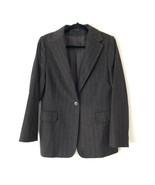 Cinzia Rocca 16 Angora Wool Pinstripe Blazer Charcoal Gray Single Breast... - $197.01