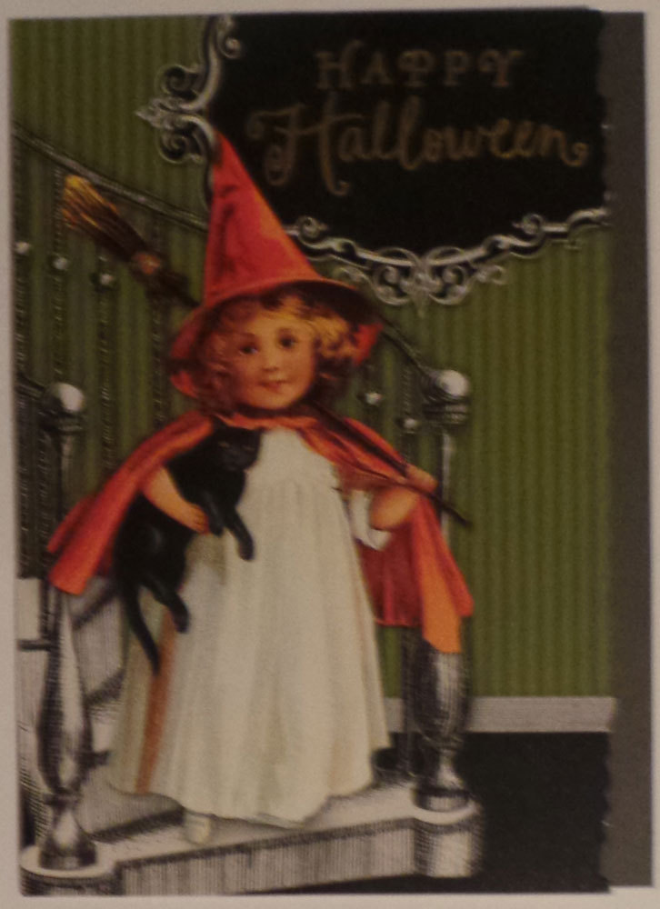 "Primary image for Greeting Card Halloween Hallmark Retro (New - Not Old) ""Happy Halloween"""