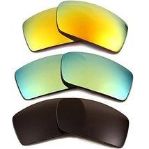 New SEEK OPTICS Replacement Lenses Oakley GASCAN - Grey Yellow Green - $33.64