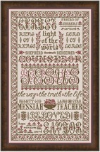 Name Of Jesus MBT135 cross stitch chart My Big Toe Designs - $18.00