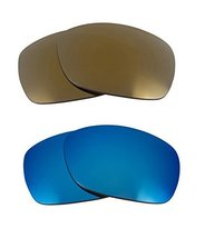 New Seek Optics Replacement Lenses Oakley Sideways   Gold Blue - $21.27