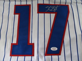 KRIS BRYANT / AUTOGRAPHED CHICAGO CUBS PINSTRIPED CUSTOM BASEBALL JERSEY / COA image 3