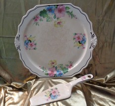 Mallow by Harker [HARMAL] Columbia Chinawear Cake Plate with Server - $45.00