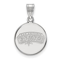 Sterling Silver NBA LogoArt San Antonio Spurs Medium Disc Pendant - $55.00