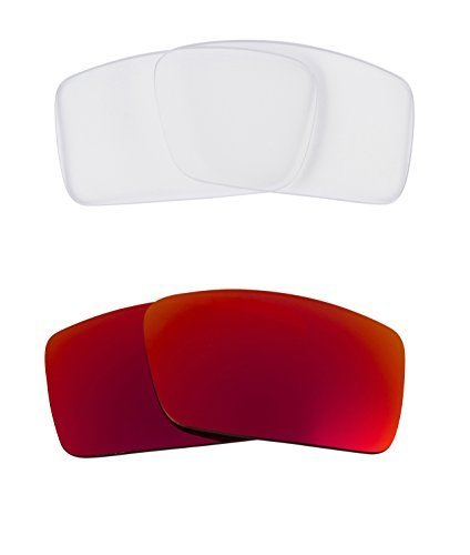 New SEEK OPTICS Replacement Lenses Oakley THUMP 2 - Clear Red