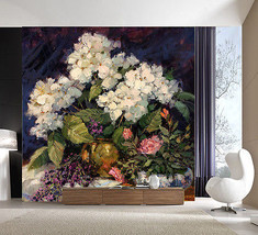 3D Cluster von blumen 2887 Fototapeten Wandbild Fototapete BildTapete Familie DE - $52.21+