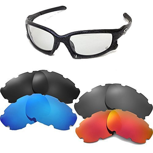 New SEEK Replacement Lenses Oakley WIND JACKET VENTED Asian Fit Polarized Blue image 2
