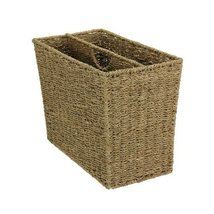 Household Essentials Woven Seagrass Side-by-Side Magazine Rack - $46.99