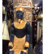 Vintage Ptah Egyptian God of Craftsmanship Hand Carved 30'' H Made In Egypt - $299.00
