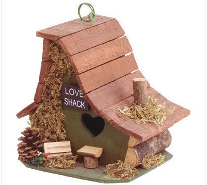 Love Shack Wood Birdhouse