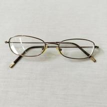Ralph Lauren Rectangle Oval Brown Metal Eyeglasses Eyeglass Frames 47-17... - $44.87