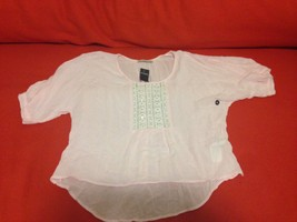 Abercrombie Kids Girl Peasant Top 16 Pastel Pink Textural Sequin Shine B... - $29.99