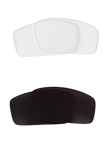 New SEEK OPTICS Replacement Lenses Oakley SQUARE WIRE - Black Clear