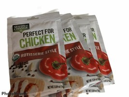 Lot of 4 Seeds of Change Organic Seasoning Mix For Chicken Rotisserie Style - $14.52