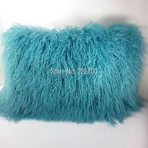 Real Natural Mongolian Tibetan Fur Throw Pillow Cover Pillowcase New Cu... - $32.99+