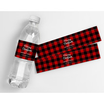 Merry Christmas Party Water Bottle Labels - $21.78
