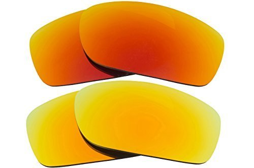 Primary image for New SEEK OPTICS Replacement Lenses Oakley FIVES SQUARED - Red Yellow