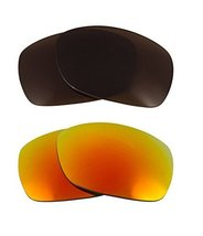 New Seek Optics Replacement Lenses Oakley Sideways   Brown Yellow - $21.27