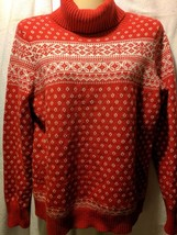 Land's End Girl's Cowl Neck Sweater Nordic Isle Pattern Sz SP - $19.79