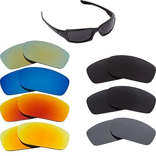 New SEEK OPTICS Replacement Lenses Oakley FIVES 3.0 - Polarized Black image 2