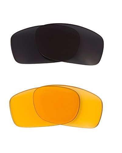 New SEEK OPTICS Replacement Lenses Oakley FIVES 3.0 - HI Yellow Grey