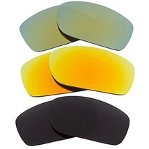 New SEEK Replacement Lenses Oakley FIVES SQUARED Polarized Black Yellow ... - $48.48