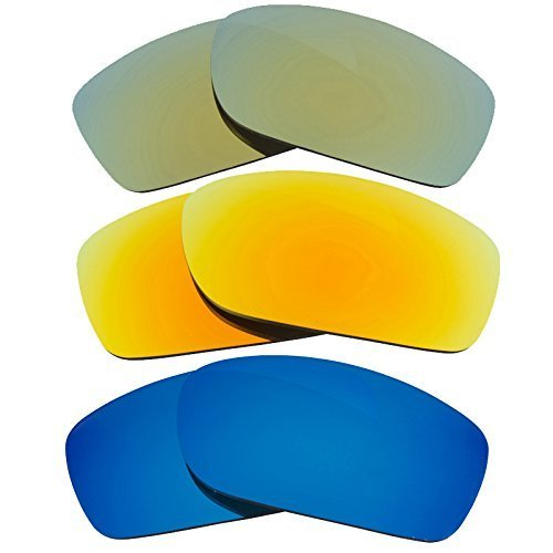 New SEEK Replacement Lenses Oakley FIVES SQUARED Polarized Yellow Blue Green