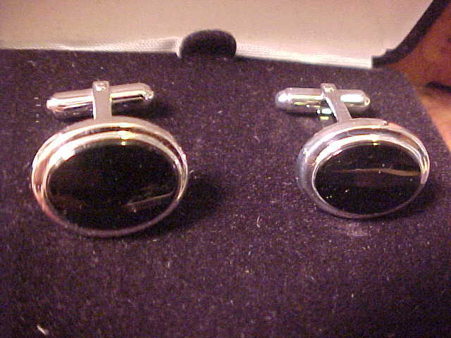 New Black Onyx Cuff Links From Macy's Reg$60.